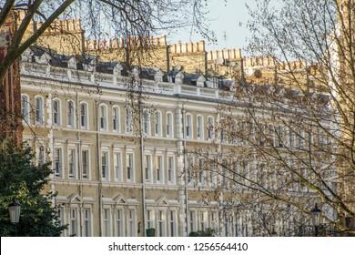 London- Residential upmarket buildings in the Chelsea & Kensington area of Westminster