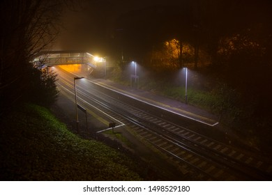 London Road Guildford train station early morning fog Guildford Surrey England 02/23/2019