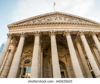 London Royal Exchange building, UK.