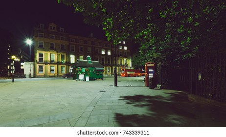 London Russell Square by night , Split Toning Horizontal Photography
