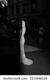 LONDON - SEP 02, 2014: ( Image digitally altered to monochrome ) Rita Ora attends the GQ Men of the Year awards at The Royal Opera House