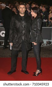 LONDON - SEP 05, 2017: Debbie Gwyther and Liam Gallagher attend the GQ Men of the Year Awards at theTate Modern in London
