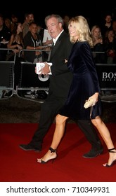 LONDON - SEP 05, 2017: Jeremy Clarkson and girlfriend Lisa Hogan attend the GQ Men of the Year Awards at theTate Modern in London