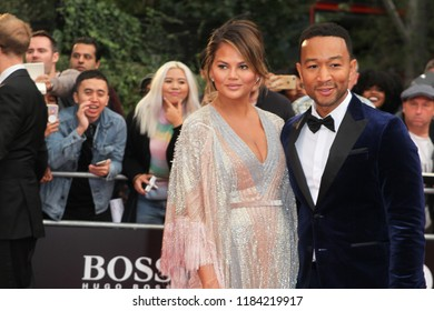 LONDON - SEP 05, 2018: Chrissy Teigen and John Legend attend the GQ Men of the Year awards at the Tate Modern