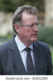 LONDON - SEP 14, 2015: Former NI First Minister Lord Trimble seen at Westminster on Sep 14, 2015 in London