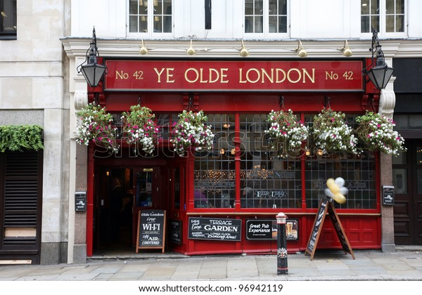 LONDON - SEP 14: Exterior of pub, for drinking and socializing, focal point of the community, on Sep 14, 2010, London, UK. Pub business, now about 53,500 pubs in the UK, has been declining every year