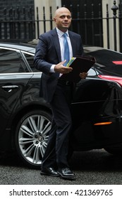 LONDON - SEP 15, 2015: Sajid Javid MP, Secretary of State for Business seen attending the cabinet meeting in Downing Street on Sep 15, 2015 in London