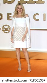 LONDON - SEP 18, 2017: Kylie Minogue attends the Kingsman: The Golden Circle World Premiere at Odeon Leicester Square