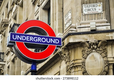 LONDON - SEP 19: Transport for London announced that the 'Underground' logo will also be used for other transportation systems in London on September 19, 2014.