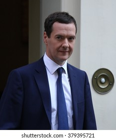 LONDON - SEP 2, 2014: George Osborne seen at Downing street on Sep 2, 2014 in London
