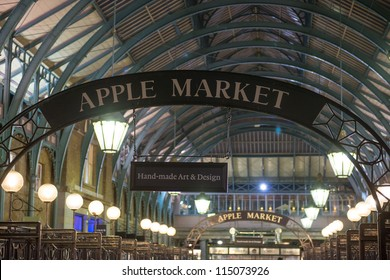 LONDON - SEP 27: Apple market insignia on September 27, 2012 in London. Apple market in Covent Garden is one of the main London attractions.