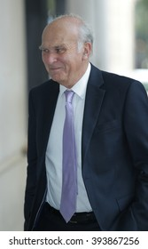 LONDON - SEP  6, 2015: Vince Cable seen at the BBC Broadcasting House for the Andrew Marr Show on Sep 6, 2015 in London