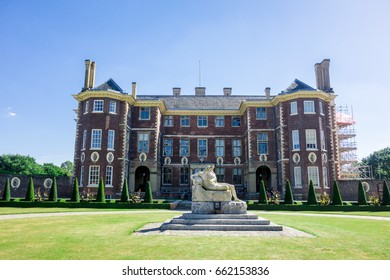 LONDON - SEPTEMBER 11TH 2016: Ham House is a 17th Century old house owned by the National Trust to display a collection of paintings, furniture and textiles in Richmond.