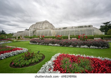 LONDON - SEPTEMBER 2: Kew Gardens. The Palm House, built in 1848, houses tropical plants from around the world in controlled conditions. September 2 2016 in London, England, UK