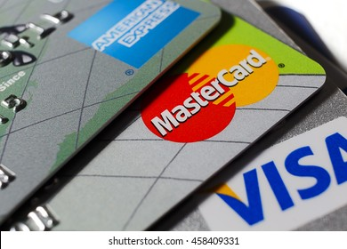 LONDON - SEPTEMBER 2015: Mastercard Close Up