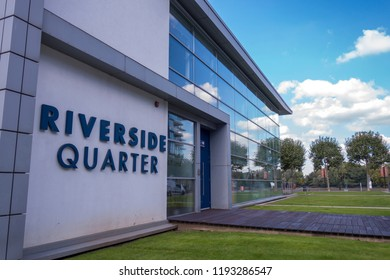 LONDON- SEPTEMBER, 2018: Riverside Quarter, a residential development by the River Thames in the borough of Wandsworth in south west London