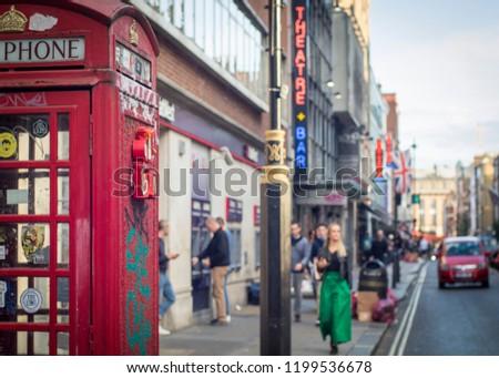 5213a8f11820 LONDON SEPTEMBER 2018 Street Scene Soho Stock Photo (Edit Now ...