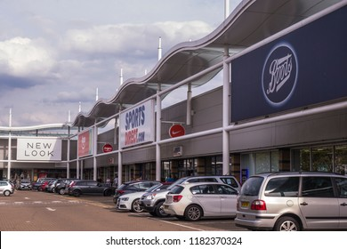 LONDON- SEPTEMBER, 2018: The Tandem Centre retail park in Colliers Wood, south west London.