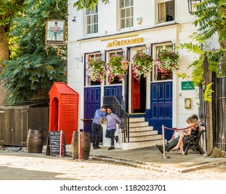 London. September 2018. A view of the Grenedier Pub in Belgravia in London