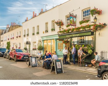 London. September 2018. A view of the nags Head pub in Belgravia in London