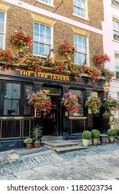 London. September 2018. A view of the Star tavern pub in Belgravia in London