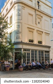 London. September 2018. A view of the Thomas Cubitt pub in Belgravia in London