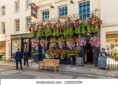 London. September 2018. A view of the Wilton Arms pub in Belgravia in London