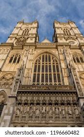 London. September 2018. Westminster Abbey in Westminster in London