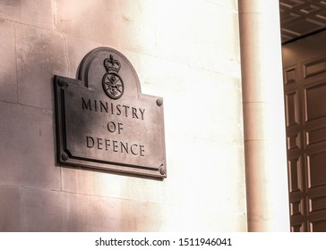 LONDON- SEPTEMBER, 2019: Ministry of Defence UK ministerial office in Whitehall. UK Government department