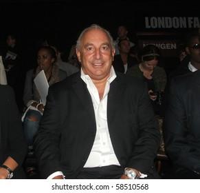 LONDON - SEPTEMBER 23: Philip Green attends London Fashion Week on September 23, 2009 in London.