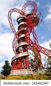 LONDON - SEPTEMBER 4. The ArcelorMittal Orbit is a symbolic structure of the Olympic Games, designed by Anish Kapoor and Cecil Balmond. September 4, 2012, in the Olympic Park, Stratford, London, UK