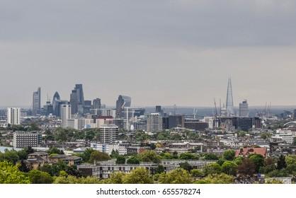 London, skyline, city
