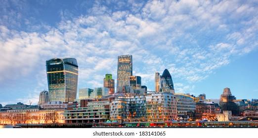 London skyline - cityspace, England