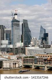 London skyline including River Thames and Southwark Bridge