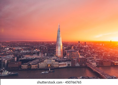 London Skyline - Orange Sunset - Sky Garden - City - Summer Sun
