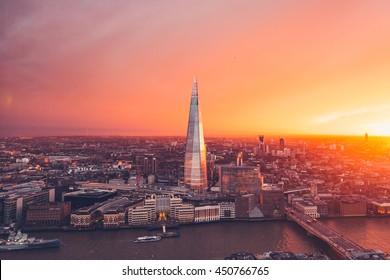 London Skyline - Orange Sunset - Sky Garden - City - Summer Sun