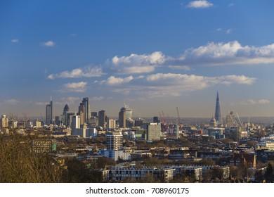 London Skyline from Parliament Hill, Hampstead Heath, London, England, United Kingdom