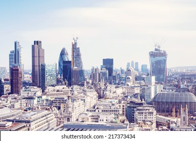 London skyline as seen from St Pauls Cathedral