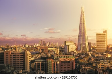 London Skyline at sunset.