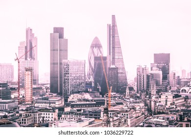 London and its skyscrapers in the background
