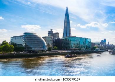 London south bank, the Shard and City Hall