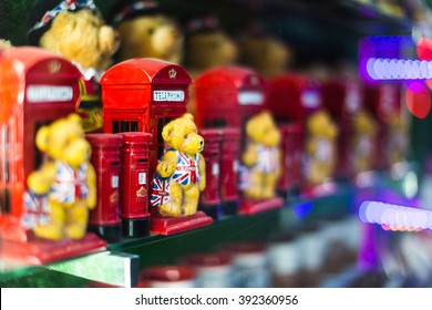 London Souvenir Gifts Red Phone Box Teddy Bear