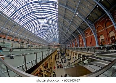 London St Pancreas/London St Pancreas/ Fish eye photograph of London St Pancreas