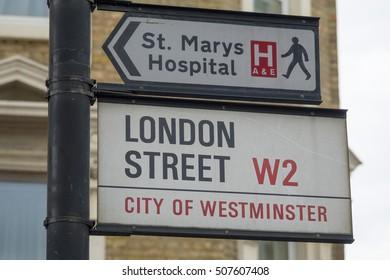 London Street in Paddington - LONDON / ENGLAND - SEPTEMBER 23, 2016