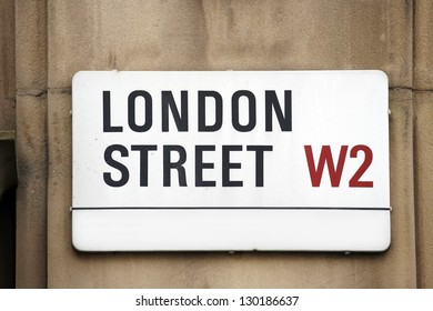 London Street Sign, LONDON STREET, Borough of Kensington and Chelsea