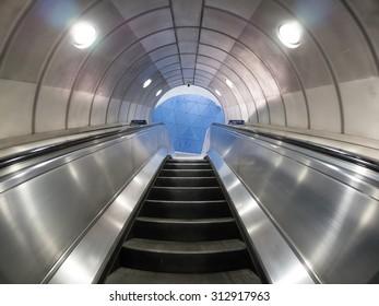 London subway escalators