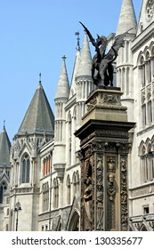 London, Temple Bar, Monument, and Royal Courts of Justice