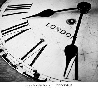 London time clock countdown concept