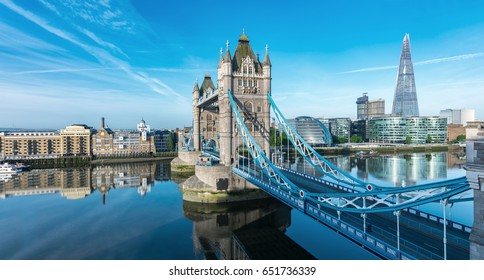 London Tower Bridge with skyline
