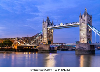 London Tower Bridge Sunset dusk, London UK.
